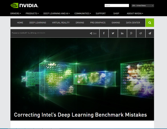 NVIDIA Disputes Intel Benchmark Claims in Machine Learning Advantage