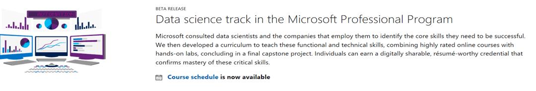 Data science track of the Microsoft Professional Program (MPP)
