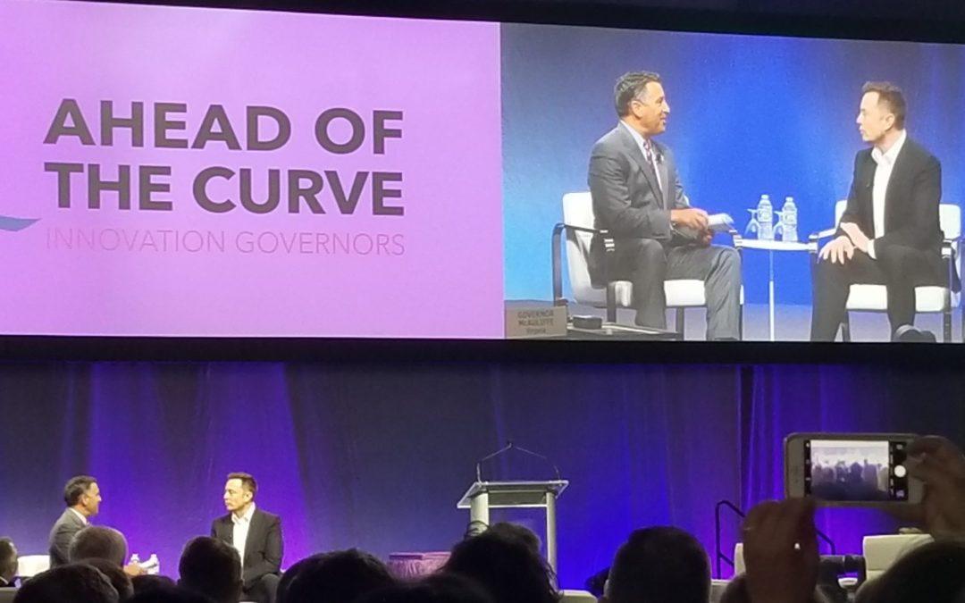 At governors' conference, Elon Musk talks of autonomous car future, warns of rogue robots