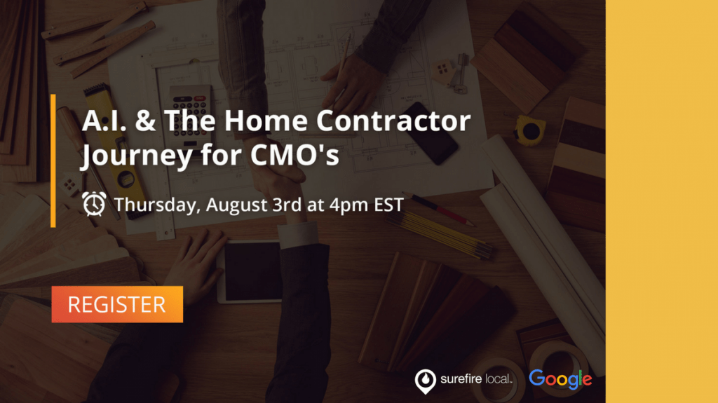[WEBINAR] Artificial Intelligence & The Home Contractor Journey