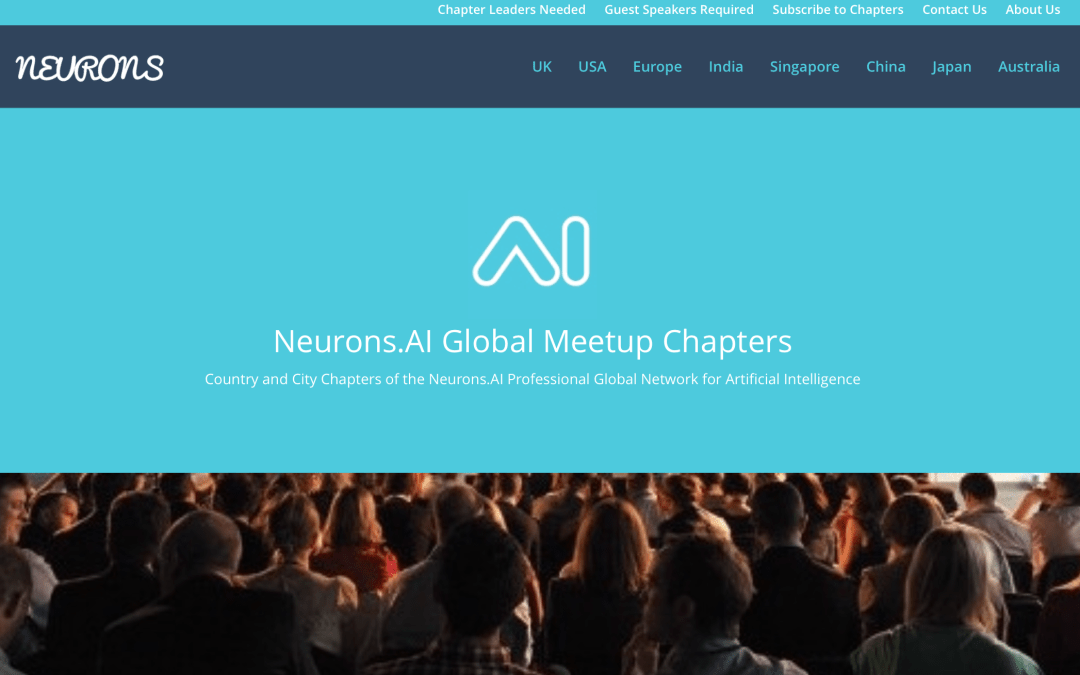 Neurons.AI – 2018 Meetup Chapters and Online Forums