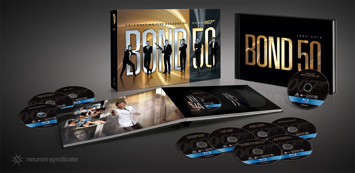 The contents of the Bond 50 collection