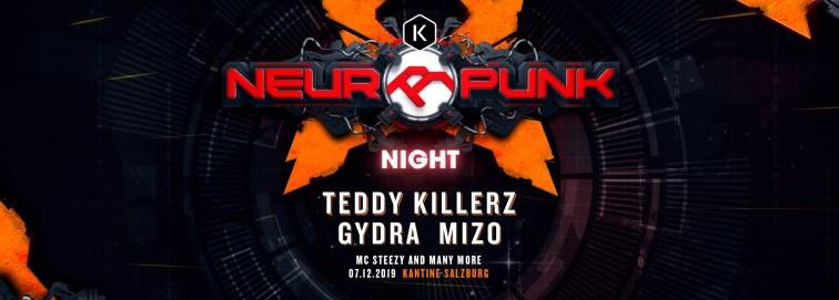 Neuropunk Night // Teddy Killerz · GYDRA · MIZO // Kantine SBG