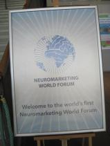 Poster of the first Neuromarketing World Forum