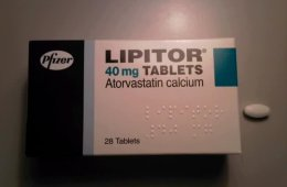 This image shows a packet of Lipitor pills.