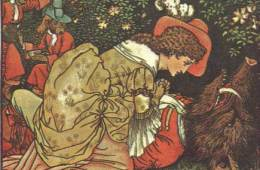 This image is of Beauty and the Beast by Walter Crane.