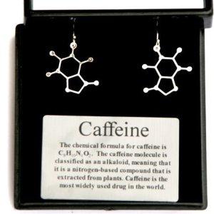 Anatomology-Caffeine-Molecular-Structure-Earrings-0