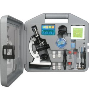AmScope-M30-ABS-KT2-W-Beginner-Microscope-Kit-LED-and-Mirror-Illumination-300X-600x-and-1200x-Magnification-Includes-49-Piece-Accessory-Set-and-Case-White-0