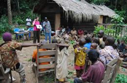 The image shows the researcher and the Congolese participants.