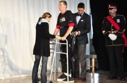 Image shows Trevor Greene in his exoskeleton.