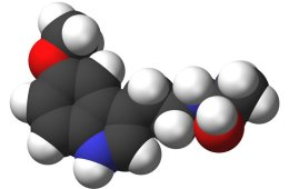 This shows the 3D structure of melatonin.
