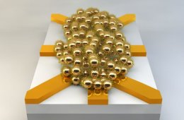 Image shows gold balls.