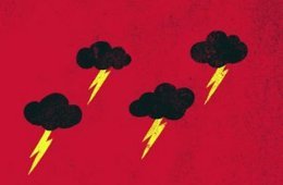 Illustration of thunder clouds.
