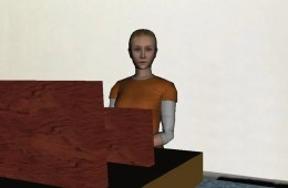 Image of a female virtual reality avatar.