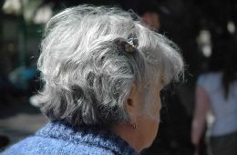 Photo of an elderly lady.