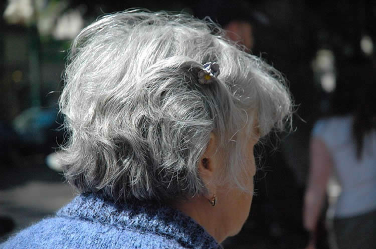 Photo of an elderly lady.