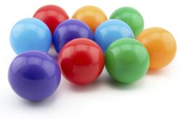 Image shows colored balls.