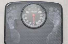 Image shows bathroom scales.