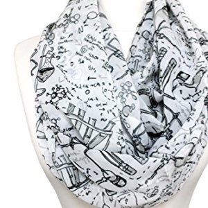 40-OFF-Handmade-Science-infinity-Scarf-By-Di-Capanni-Monochrome-0