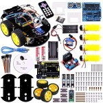 Elego-UNO-Project-Smart-Robot-Car-Kit-with-Four-wheel-Drives-UNO-R3-Link-Tracking-Module-Ultrasonic-Sensor-Bluetooth-module-Remote-ect-Newest-Intelligent-and-Educational-Toy-Car-for-Kids-0