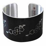 Estrogen-Estradoil-Molecule-Aluminum-Cuff-Bracelet-0