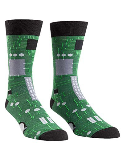ae726304a Sock It To Me Circuit Board Mens Crew Socks - Neuroscience News