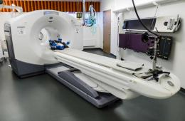 Image shows a pet scanner.