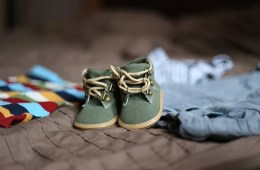 Image shows a pair of baby shoes.