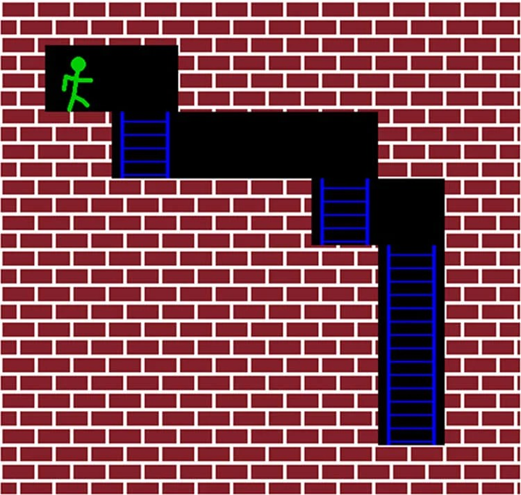 Image shows a maze from the game.