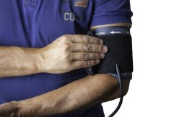 Image shows a blood pressure cuff.