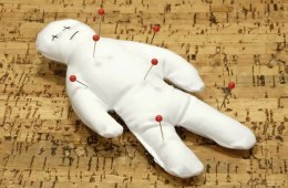 Image shows a voodoo doll.