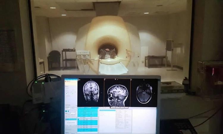 Image shows an MRI scanner.