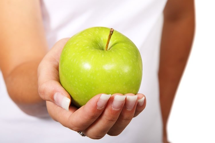 Image shows an apple.