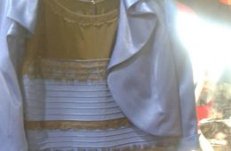 Image shows the infamous dress.