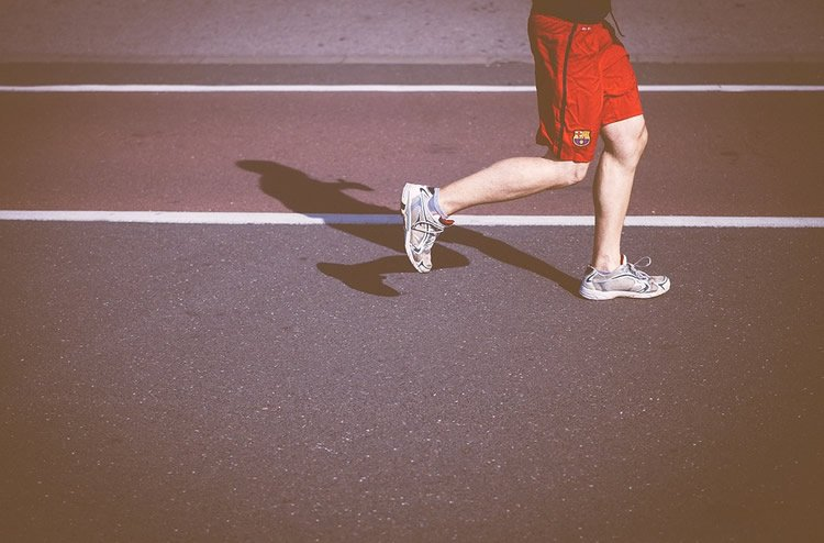 Image shows a person running.