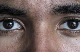 Image shows a person's eyes.