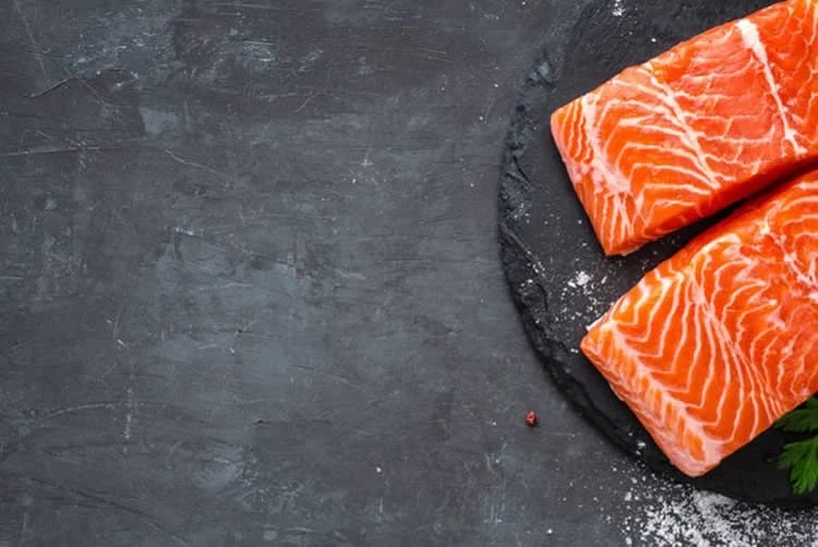Image shows salmon filets.