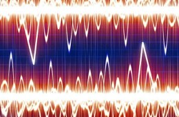 Image shows brain waves.