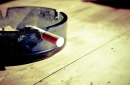 an ashtray