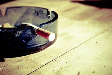 an ashtray