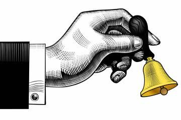 hand ringing a bell