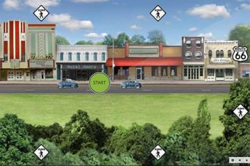 Image shows a virtual street.
