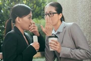two women gossiping