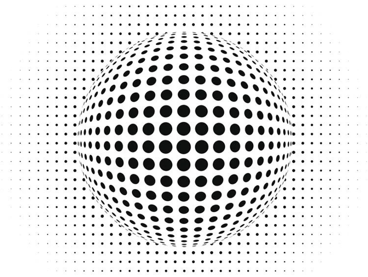 Image shows a dotty ball.