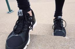 Image shows running shoes.