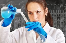 female scientist