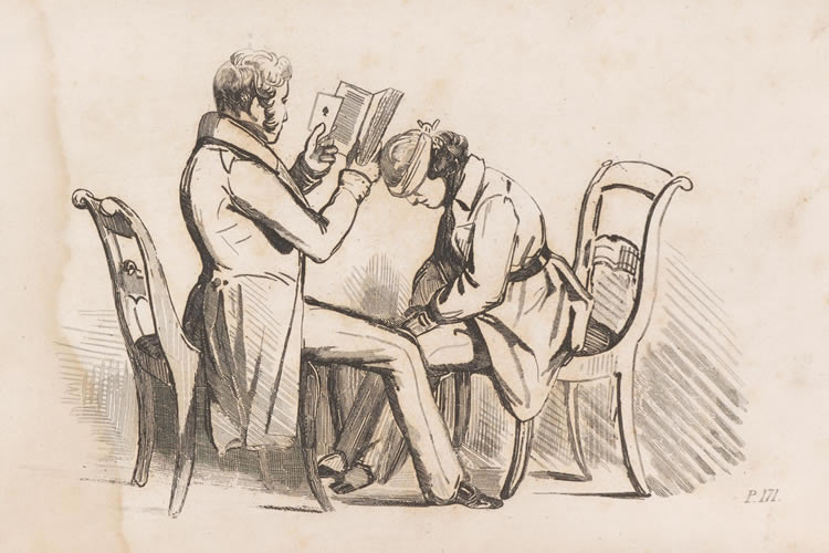 a drawing of a woman being hypnotized