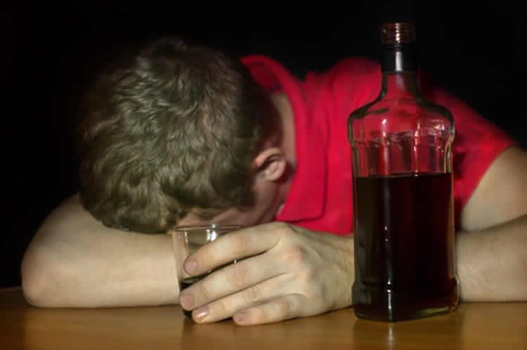 a drunk student