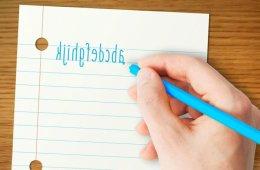 backwards writing