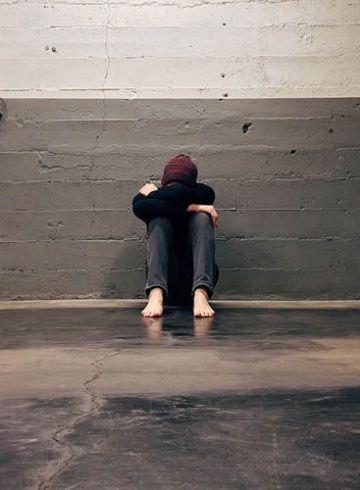 upset teen